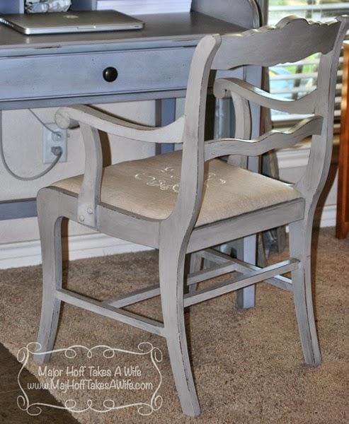 Rear chalkpaint chair