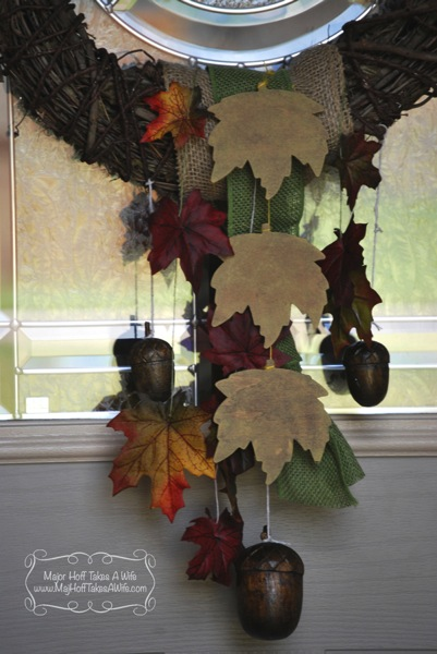 Fall acorn wreath tutorial