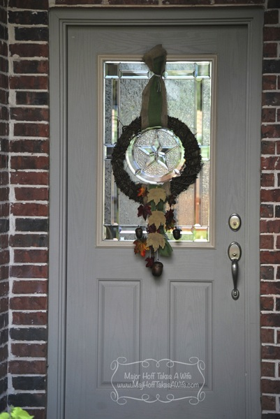 Full door fall wreath