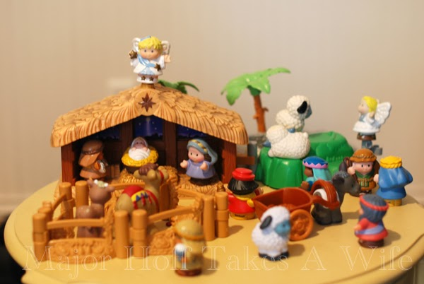 Little People Nativity in playroom