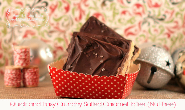 Caramel Toffee Recipe for nut free squares