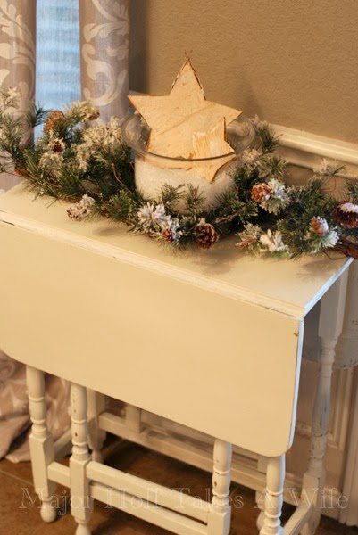 Side Table Dressed For Christmas