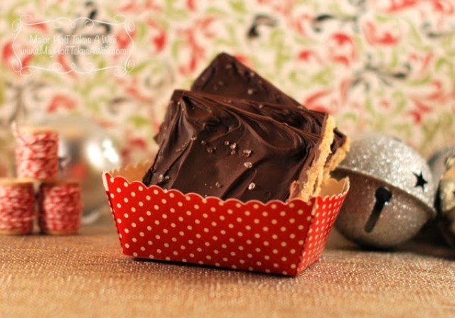Salted caramel toffee recipe that is nut free and gluten free