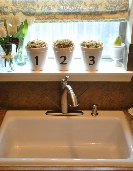 Walden Faucet in White Single Basin