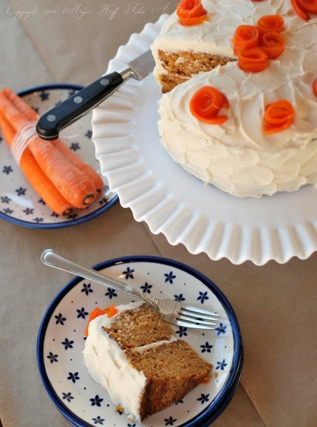 This easy carrot cake recipe will be a new family favorite. Perfect for those looking for a nut free carrot cake. Includes all the essential elements like cream cheese frosting but ditches the nuts, pineapple and coconut. via @mrsmajorhoff