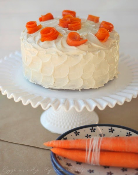 Cinnamon Cream Cheese Frosted Carrot Cake