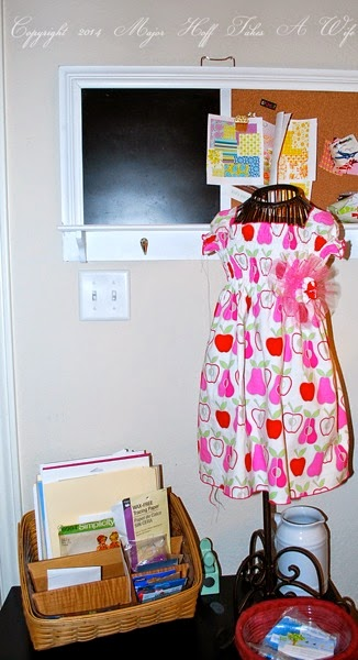 Dress form bulletin board