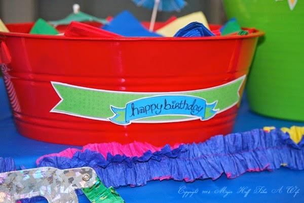 Easiest Birthday Rainbow Printable banner Jen Goode