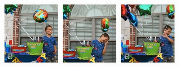 Windy Rainblow Birthday Balloons