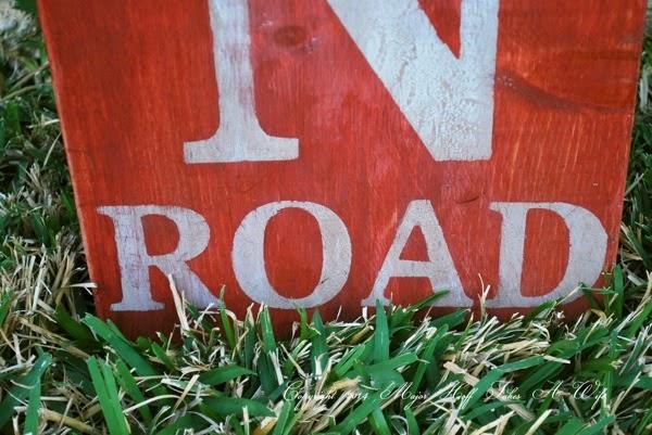 Vintage looking road sign