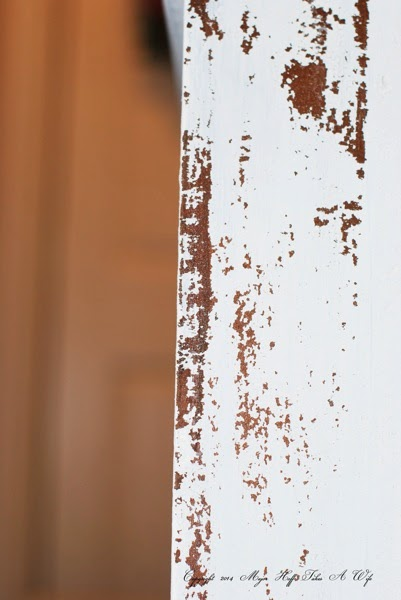 Miss Mustard Seed Milk Paint after flaking