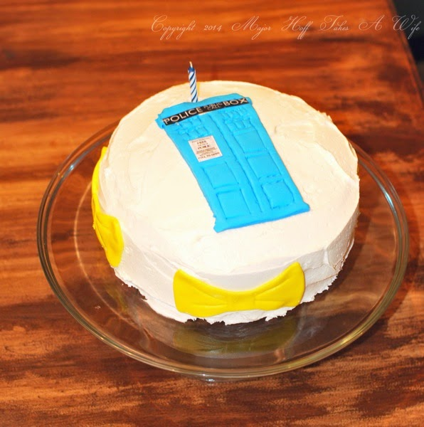 Police Box Birthday cake for Dr who fan