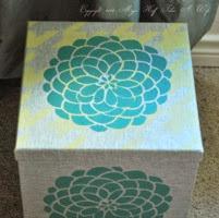 Decorate a storage box with stencils