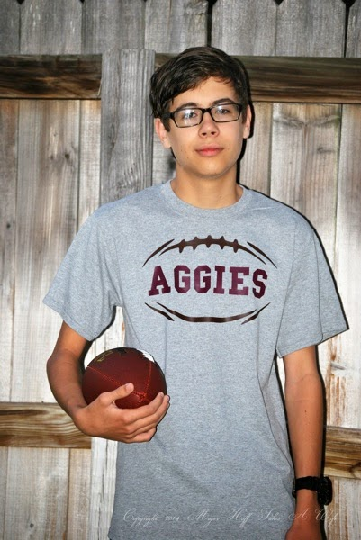 How to make your own Aggies T shirt with iron on vinyl