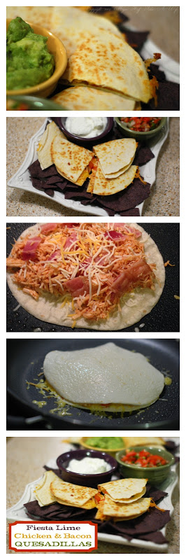 Easiest Week Night meal Fiesta Lime Chicken  Bacon quesadillas