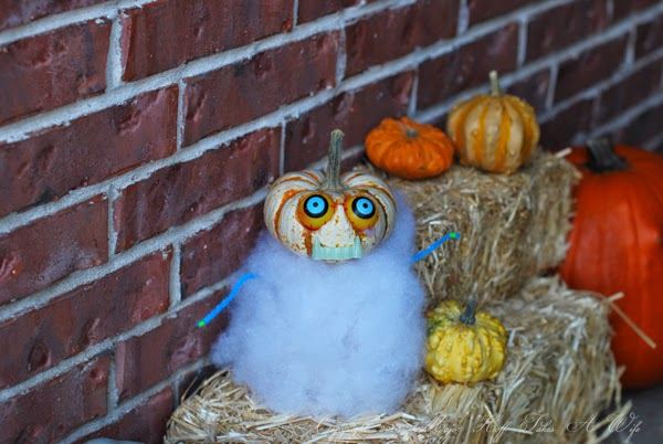 Easy to make pumpkin creature for kids