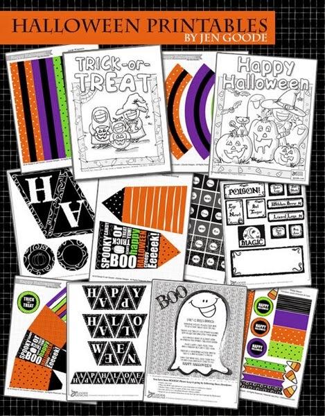 Halloween printables by jen goode
