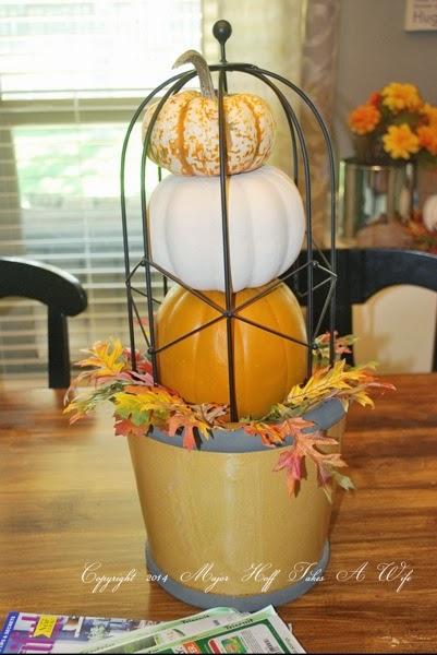 Pumpkin topiary how to DIY