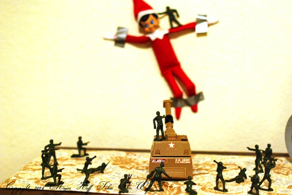Army versus Elf on the Shelf