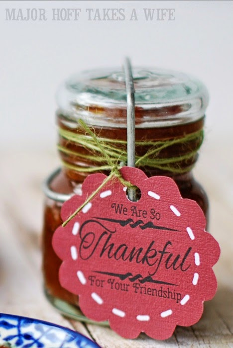 Crockpot Apple Butter packaged for gifts