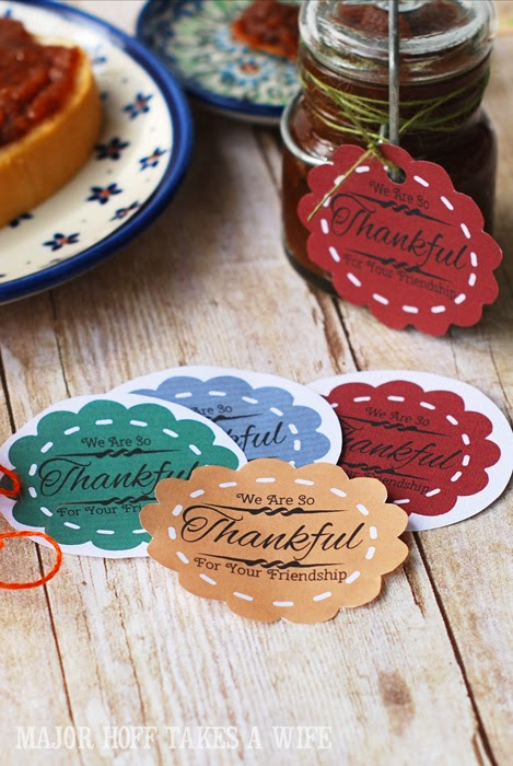 Free printable labels for apple butter gift giving
