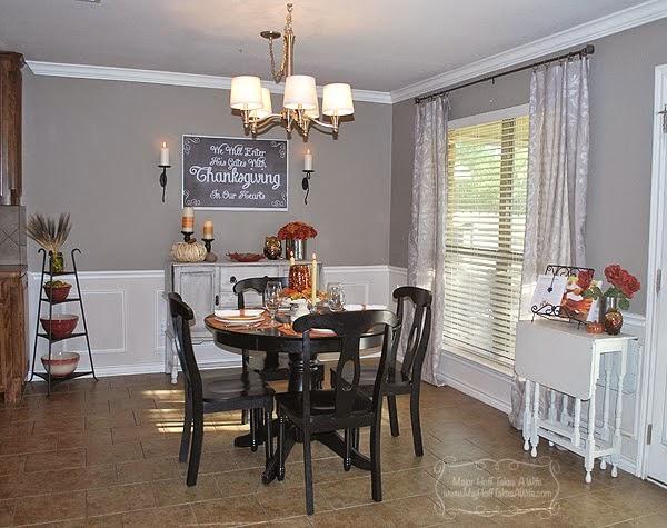 Dining Room during Thanksgiving Season