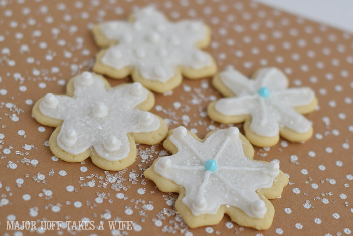 Christmas Cookies Sparkly snowflake sugar cookies.
