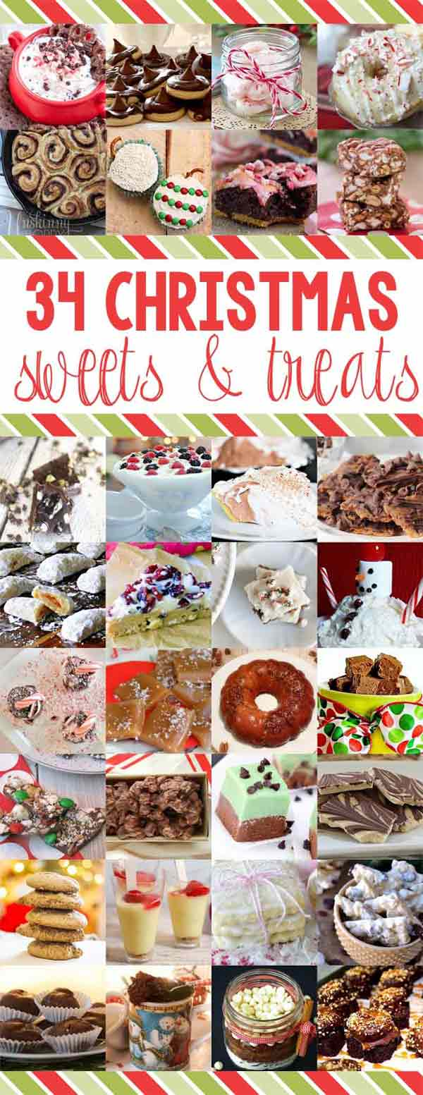 34 of the best Christmas sweets and treats! From fudge to chocolate peanut clusters. Unique recipes that are perfect for holiday gifting!