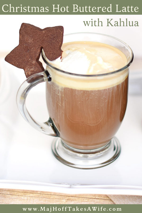 Holiday Entertaining: Hot Buttered Lattes. Need a Christmas Coffee Drink? Look no further than this Christmas Latte. A spin off of the Hot Buttered Rum, it features fresh coffee and Kahlua. Please your holiday guests with this delightful drink. Part of the Holidays Made Easy Blog Series. #HolidaysMadeEasy #kahlua #holiday #christmasdrinks #winterdrinks via @mrsmajorhoff