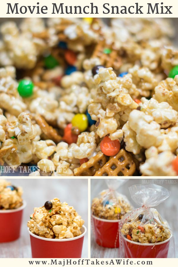 Movie Munch Popcorn is the perfect treat when you are craving something sweet and salty! Use microwave popcorn and a simple recipe for a unique homemade caramel sauce. Perfect for movie night! via @mrsmajorhoff