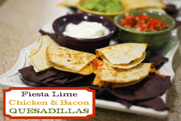 Fiesta Lime Chicken and Bacon Quesadillas
