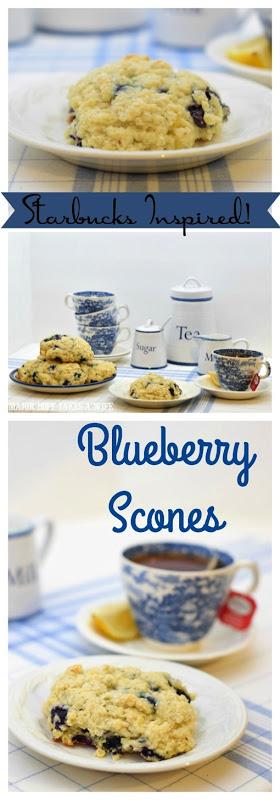 Starbucks inspired Blueberry Scones for High Tea
