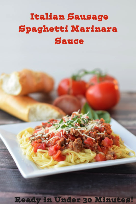 Everything you need to know to make the most scrumptious Italian Sausage Marinara Sauce with linguine noodles. Step by step instructions makes this classic recipe easy to add to your repertoire. This delicous recipe is naturally gluten free! Simply serve with your favorite gluten free noodles. #LearnToCook #ItalianSausage #HomemadeMarinara via @mrsmajorhoff