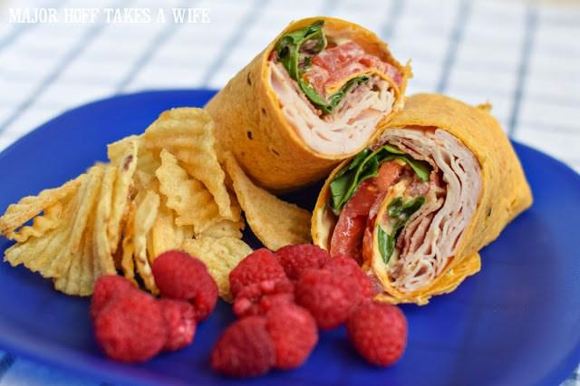 Turkey Bacon Avocado Ranch Sandwich Wrap!