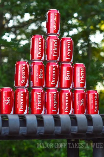 Nickname Coca-Cola classic cans.