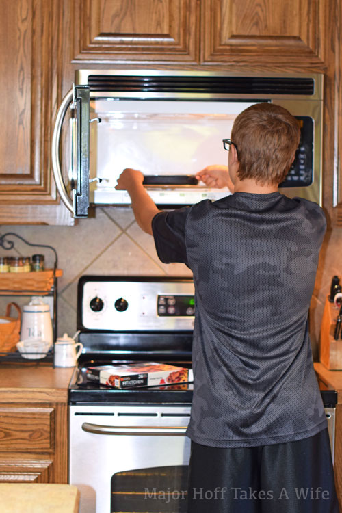 Teenage boys make dinner with Stouffer s Fit Meals