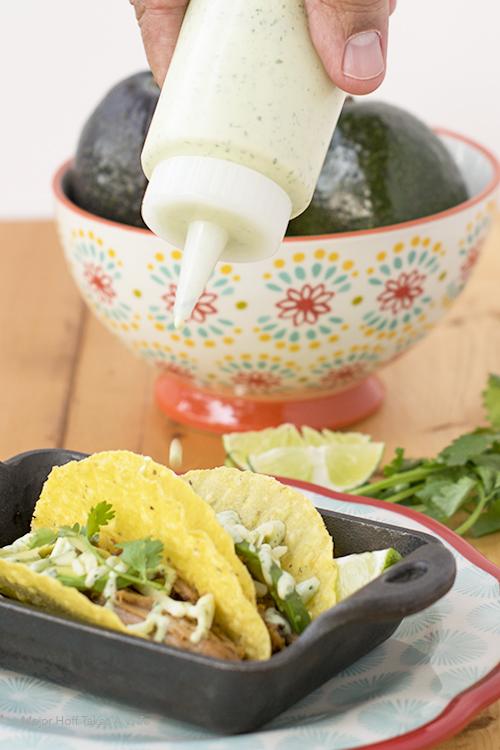 Cilantro Aoili for the best pork tacos recipe
