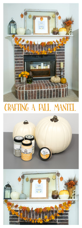 Crafting A Fall Mantel! Fall in Love with your Home 2015 Blog hop tour. See how to craft a fall mantel with just a few simple items