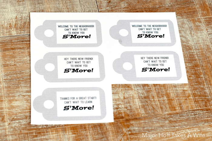 Free printable tag for new friend, new neighbor or new teacher. S'more Fun