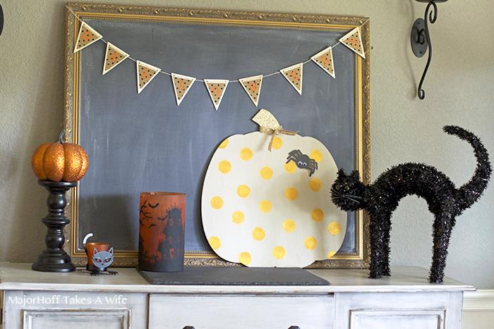 Polka dot pumpkin Halloween Decor