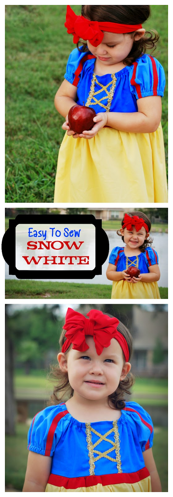 Easy to sew Snow White Costume for girls
