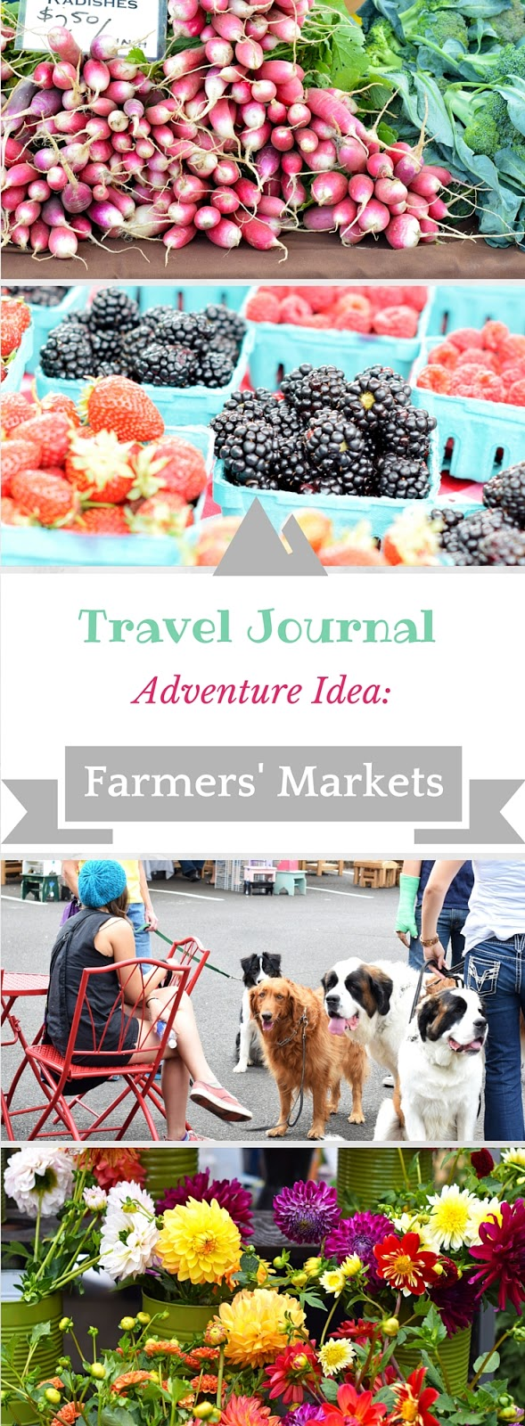 Travel Journal ideas: Local Farmers' Markets. The Salem Oregon weather lends itself to one of the best farmers' markets. Enjoy local produce, flowers and entertainment. Great family activity whether traveling or as a resident.