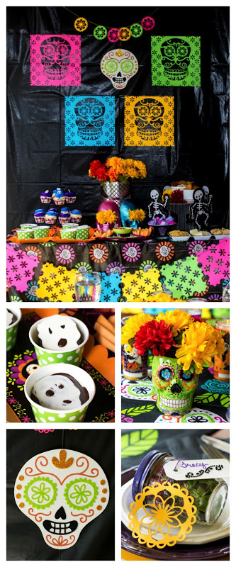 Day of the Dead. Looking for party ideas for Dia de los Muertos? This Day of the Dead Dinner Party is packed full of ideas. From recipes, to table settings, to crafts, you will have everything you need to throw a successful party! #ad #CollectiveBias