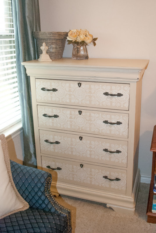 Paint and stencil a dresser with chalk paint