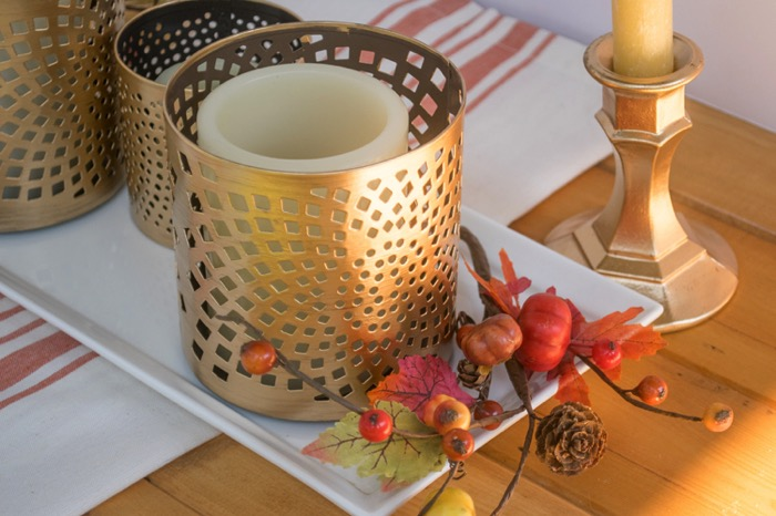 Thanksgiving gilded centerpiece