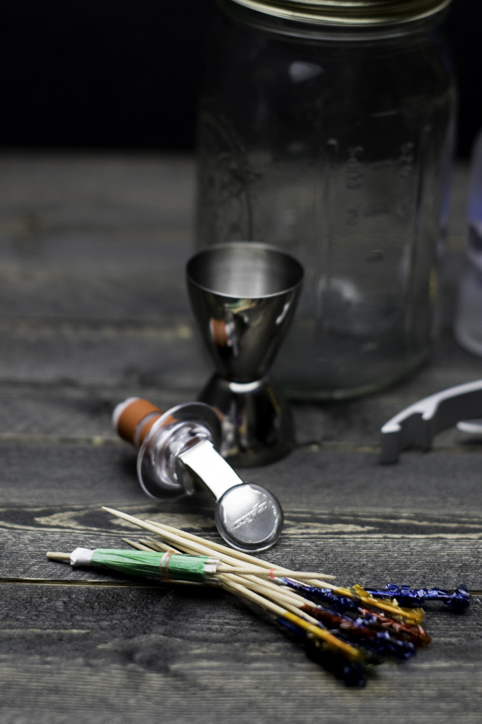 Mason jar bartender kit