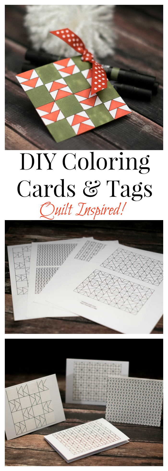 DIY Coloring Cards  Tags