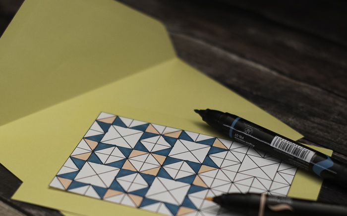 DIY Coloring Quilt stationary
