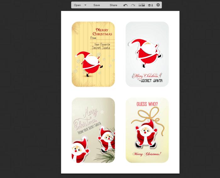 Final Secret Santa Gift Tags in picmonkey