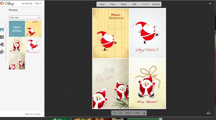 Secret Santa gift tags on picmonkey